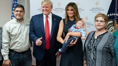 Donald Trump Faces Wrath For Giving Thumbs Up Pose in Picture With Smiling Melania Holding El Paso Orphan