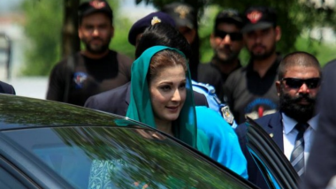 Maryam Nawaz, Pakistan Ex-PM Nawaz Sharif's Daughter, Remanded in NAB Custody Till August 21 in Graft Probe