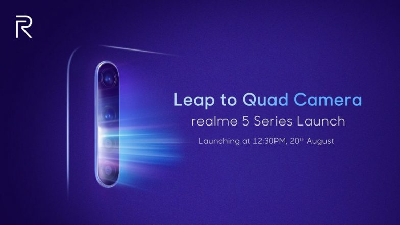Realme 5, Realme 5 Pro Smartphones To Get Quad Camera Setup; To Be Launched in India on August 20