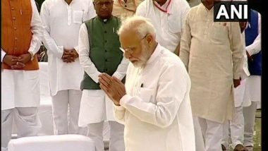 PM Narendra Modi Pay Tributes to Former Prime Minister Atal Bihari Vajpayee on His First Death Anniversary