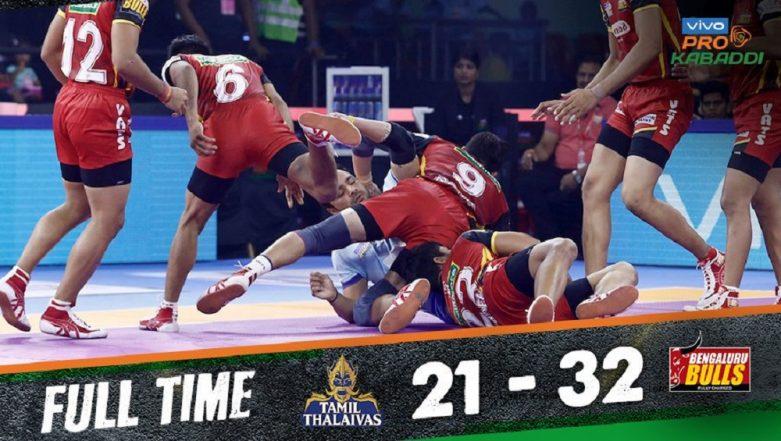 Pro Kabaddi League 7: Bengaluru Bulls Humble Tamil Thalaivas 32–21