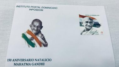 Dominican Republic Releases Postal Stamp to Mark Mahatma Gandhi's 150th Birth Anniversary (See Pics)