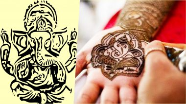 Ganesh Chaturthi 2019 Special Mehndi Design Images: Beautiful Ganpati Bappa Morya Mehandi Patterns & Indian Henna Designs to Flaunt During Ganeshotsav