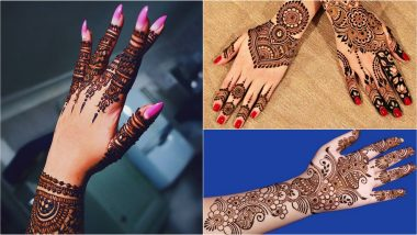 Easy Mehndi Designs for Bakrid 2019: Latest Full Hand Arabic Mehandi Patterns & Simple Henna Designs for Back Hand to Try On Eid Al-Adha (View Images and Videos)
