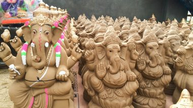 Ganesh Chaturthi 2019: Farmers Prepare Eco-Friendly Ganesha Idols That Can Sprout into Plants in Puducherry