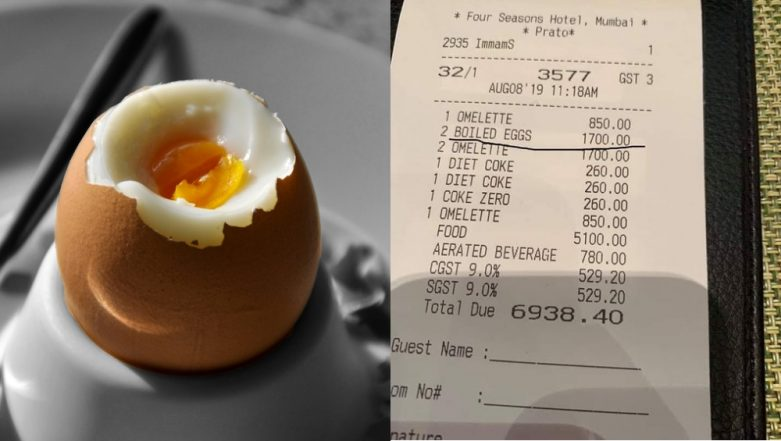 Forget Bananas for Rs 442, Mumbai's Four Seasons Hotel Charges Rs 1,700 for 2 Boiled Eggs