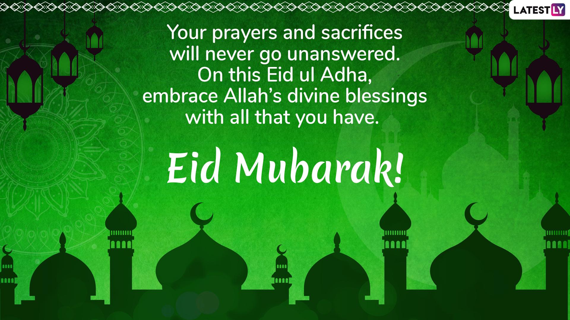 Eid Mubarak Greetings: Eid ul-Adha 2019 Messages, WhatsApp ...