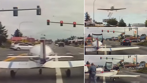 US Cop Helps Make Small Plane Emergency Landing Possible on Washington Road, Wins Hearts; Watch Video