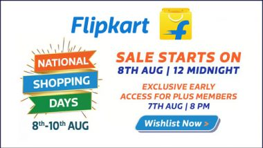 Flipkart National Shopping Days Begin From Midnight, Discount Ranges From 50-80%; Check Details of Offers