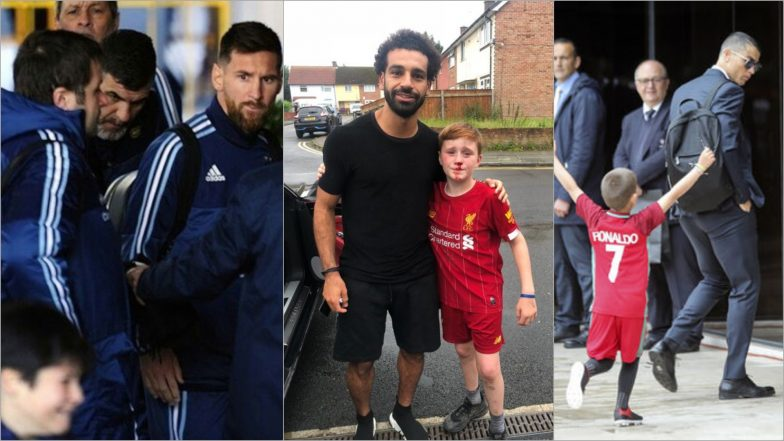From Mo Salah to Lionel Messi to Cristiano Ronaldo, When Footballers Met Their Kiddie Fans and Made Our Hearts Cry!