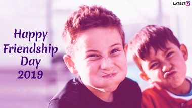 Happy Friendship Day Images & HD Wallpapers for Free Download: Wish on World Friendship Day 2019 With Beautiful GIF Greetings & WhatsApp Sticker Messages