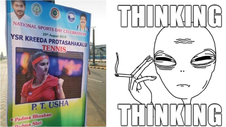 PT Usha Mistaken for Sania Mirza on National Sports Day 2019 Poster in Andhra Pradesh, Social Media Erupts