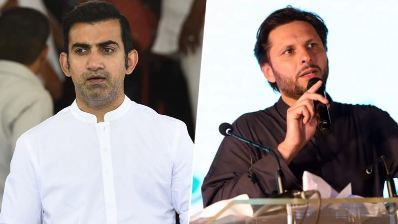 Article 370 Revoked: Shahid Afridi Calls for UN Intervention in Jammu and Kashmir, Gautam Gambhir Reminds Him of PoK