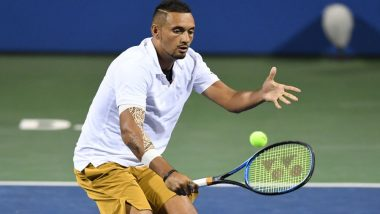 Washington Open 2019: Nick Kyrgios Takes Coaching Advice From Fans on Match Point, Ousts Top Seed Tsitsipas to Reach Citi Open Final (Watch Video)