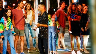 Supermodel Gigi Hadid and Beau Tyler Cameron Dine with Serena Williams