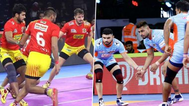 Gujarat Fortunegiants vs Bengal  Warriors PKL 2019 Match 41 Free Live Streaming and Telecast Details: Watch GUJ VS KOLG, VIVO Pro Kabaddi League Season 7 Clash Online on Hotstar and Star Sports