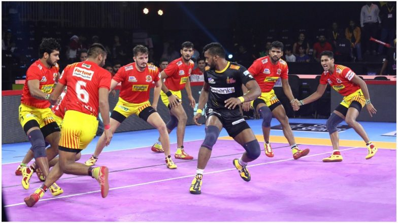 PKL 7 Results: Telugu Titans Register Maiden Victory This Season with 30/24 Win Over Gujarat Fortunegiants