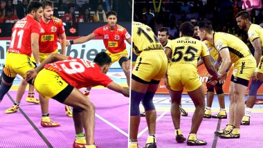 Gujarat Fortunegiants vs Telugu Titans PKL 2019 Match 37 Free Live Streaming and Telecast Details: Watch GUJ vs TT, VIVO Pro Kabaddi League Season 7 Clash Online on Hotstar and Star Sports