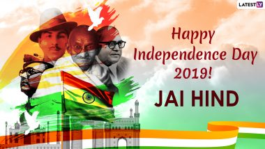 Happy Independence Day 2019 Greetings: WhatsApp Stickers, GIF Image Messages, SMSes, Patriotic Quotes And Thoughts on India's Freedom to Share on 15th August