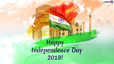 Happy Indian Independence Day 2019 Wishes: WhatsApp Stickers, Patriotic Quotes, GIF Images, Messages to Send Heartfelt Greetings on This National Festival