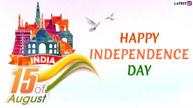 Independence Day 2019 Messages in Hindi: Swatantrata Diwas WhatsApp Stickers, SMS, GIF Images, Insta Captions, Patriotic Quotes and Greetings to Send on 15th of August