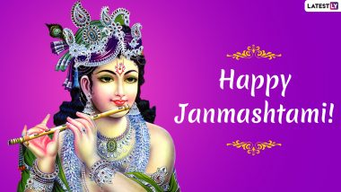 Happy Janmashtami 2019 Wishes And Messages: WhatsApp Stickers, SMS, Krishna GIF Images and Greetings to Wish on Gokulashtami Puja