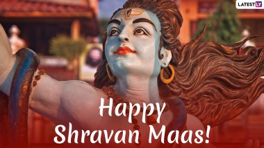 Happy Shravan 2019 Wishes: WhatsApp Stickers, Lord Shiva Photos, GIF Images, SMS, Messages to Send Greetings of Holy Month of Sawan