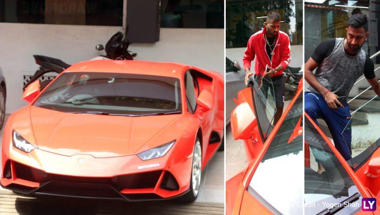 Hardik and Krunal Pandya Buy New Orange Lamborghini Car! View Pics & Video of Their Hot Toy