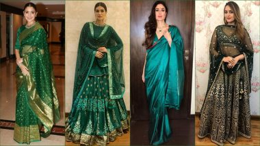 Wear Green on Hariyali Teej 2019: From Kriti Sanon to Anushka Sharma, These Actresses Show Us Right Way to Don Green Colour on The Auspicious Festival