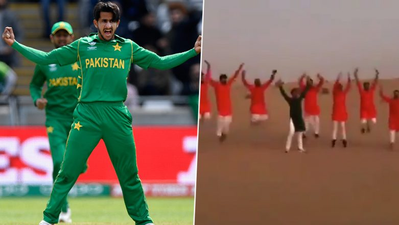 Hasan Ali Performs Celebratory 'Bomb Explosion' Move Before Wedding With Indian Girl Samiya Arzoo, Twitterati Troll the Pakistani Cricketer
