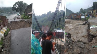 Himachal Pradesh Rains: Landslides and Flash Floods Block Highways, Heavy Downpour Kills 2 People; IMD Predicts More Rainfall