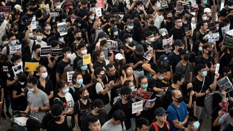 Hong Kong Airport Cancels All Departing Flights After Fresh Anti-Government Protest