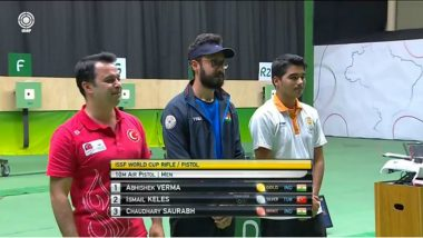 2019 ISSF World Cup Brazil Medal Tally: Abhishek Verma Wins Gold, Bronze for Saurabh Chaudhary in Rio de Janeiro Shooting WC