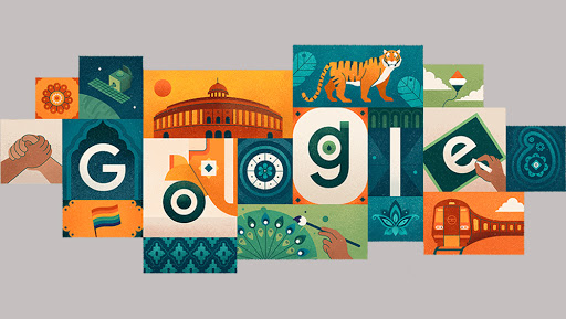 India Independence Day 2019 Google Doodle: Indian Culture Ranging From Education to Courage and Compassion Depicted by Tricolour Art On 73rd I-Day