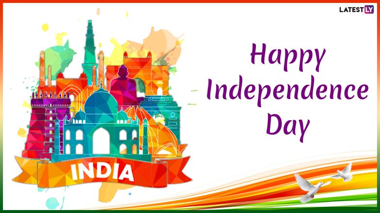 Independence Day 2019 Images & Swatantrata Diwas HD Wallpapers for Free Download Online: Send These Patriotic GIF Greetings, Quotes & WhatsApp Sticker Messages on August 15