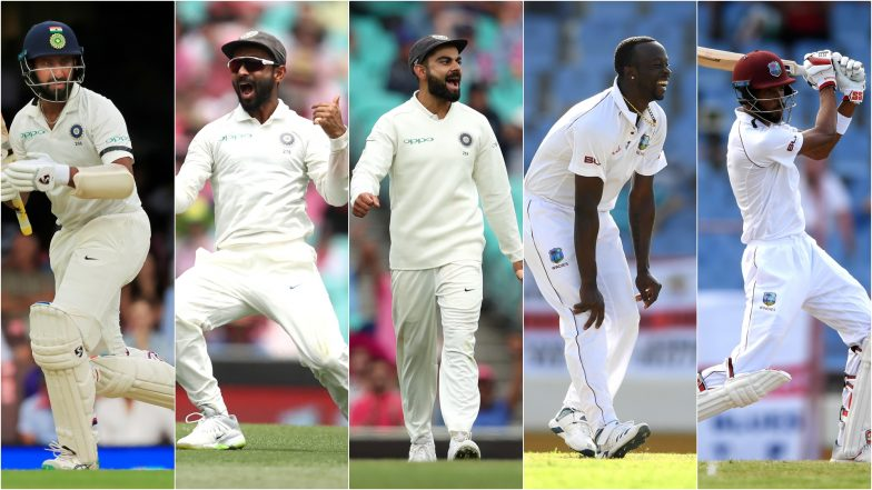 India vs West Indies 1st Test, Key Players: Ajinkya Rahane, Virat Kohli, Roston Chase & Other Cricketers to Watch Out for at Sir Vivian Richards Stadium in Antigua