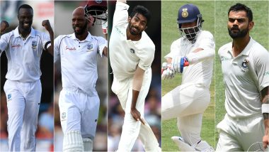 India vs West Indies 2nd Test 2019, Key Players: Virat Kohli, Kemar Roach, Ajinkya Rahane & Other Cricketers to Watch Out for at Sabina Park in Kingston
