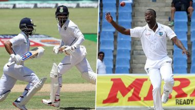 India vs West Indies Live Cricket Score 1st Test 2019 Match: Get Latest Scorecard and Ball-By-Ball Commentary Details for Day 2 of IND vs WI Opening Test