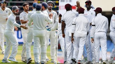 Live Cricket Streaming of India vs West Indies 2019, 1st Test Match Day 4 on DD Sports and SonyLiv: Check Live Cricket Score, Watch Free Telecast of IND vs WI on TV and Online