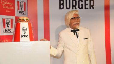 KFC's Zinger Reaches Madame Tussauds Wax Museum! 'Indian' Colonel Sanders Unveils Original Celebrity Burger (See Pictures)