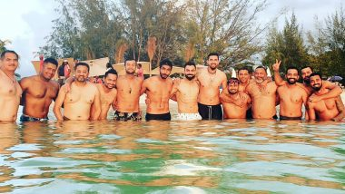 Virat Kohli and Rohit Sharma Finally Pose Together in a Group Photo! View Pic of Indian Cricket Team Players Enjoying Beach Time in West Indies