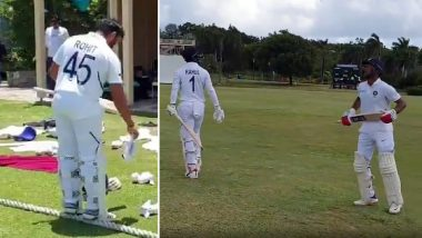 Indian Cricket Team Wears New Test Jersey With Numbers During Their 3-Days Practice Match Against West Indies Cricket Board President XI; BCCI Shares Video