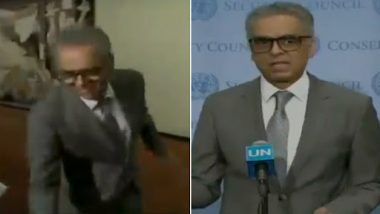 Syed Akbaruddin, India's UN Envoy, Extends 'The Hand of Friendship' to Pakistani Journalists Post-UNSC Closed-Door Meeting on Kashmir, Watch Video