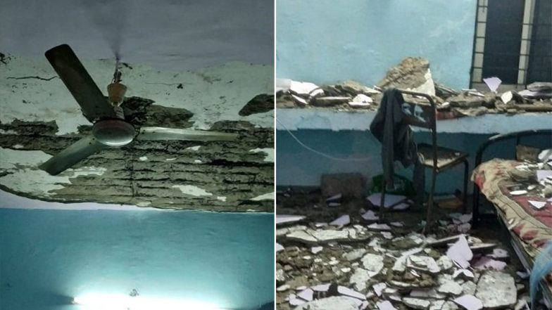 SGSITS Hostel Room Ceiling Collapses, Student Injured, Warden Blames Rain