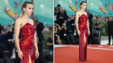 Yo or Hell No! Scarlett Johansson in Celine at Venice Film Festival 2019