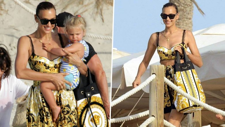Yo or Hell No! Irina Shayk Picks Versace Separates for her Recent Outing in Spain