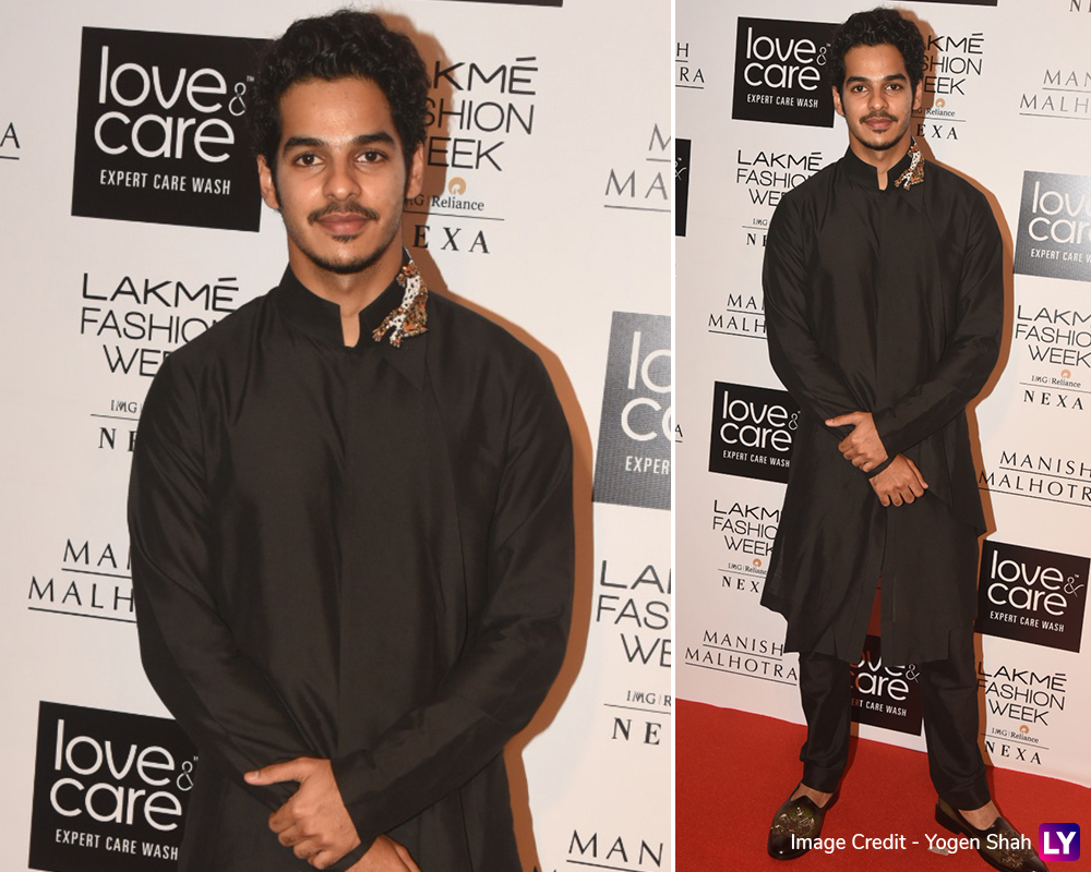 Ishaan Khatter arrives at LFW Winter/Festive 2019 opening night.