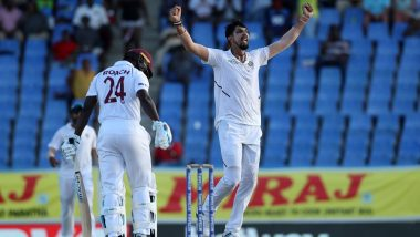 Live Cricket Streaming of India vs West Indies 2019, 1st Test Match Day 3 on DD Sports and SonyLiv: Check Live Cricket Score, Watch Free Telecast of IND vs WI on TV and Online