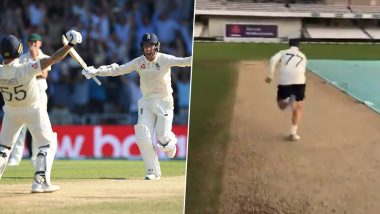 Jack Leach Recreates Last Single He Ran With Ben Stokes to Tie The Scores During Epic England vs Australia Ashes 2019 3rd Test Match (Watch Video)