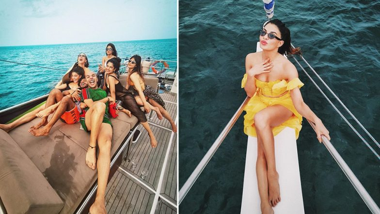 Jacqueline Fernandez Looks Smokin' Hot In a Yellow Tulle as She Parties on a Yacht in Sri Lanka (View Pics)